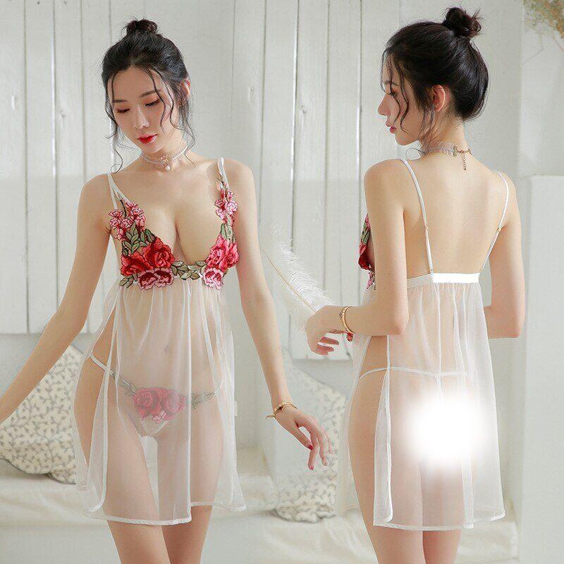 Exotic-Apparel-Sheer-Dress-Sexy-Nightwear-Embroidery-Lace-Sleepwear-Perspective-Temptation-Women-Lingerie-Dress-Sleep